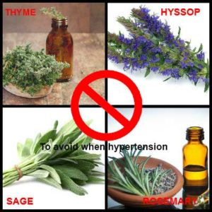 essential oils to avoid when hypertension