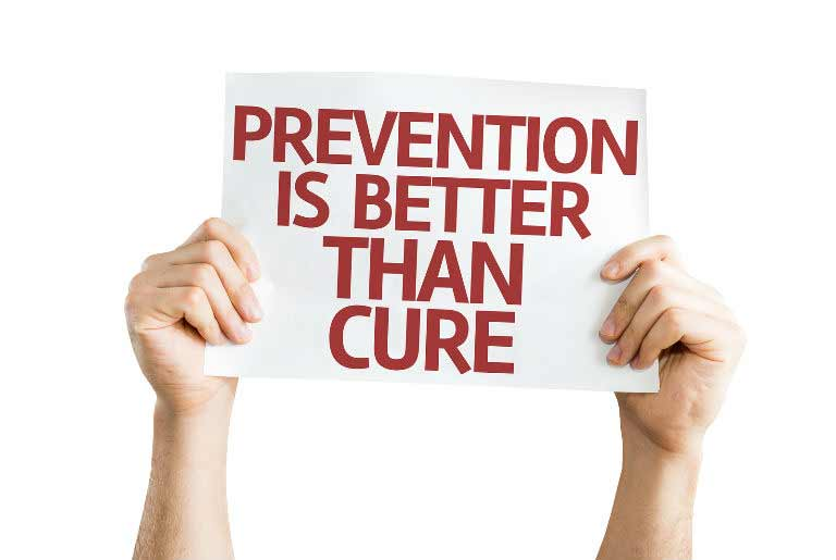 prenvention is better than cure